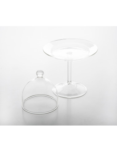 Cloche en pyrex 9 cm Avec valve avec support - Lot de 6
