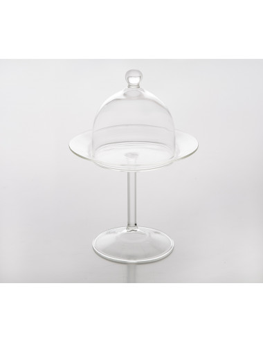 Cloche en pyrex 9 cm + support - lot de 6