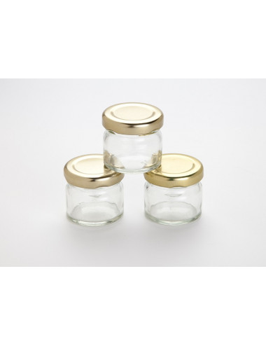 Mini pot confiture 30ml OR - Lot de 105