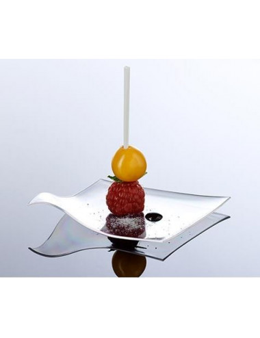 Assiette plate Hola transparent