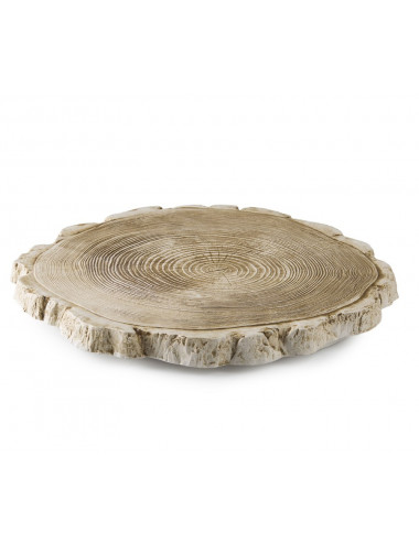 Plateau Wood Slice en porcelaine
