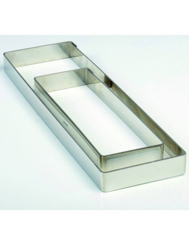 Moule rectangle en acier inoxydable 8x28cm H2cm - Crostate