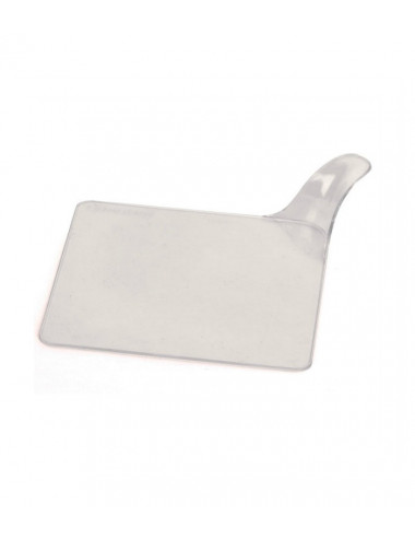 Carré transparent - Plateaux support plastique - Lot de 250
